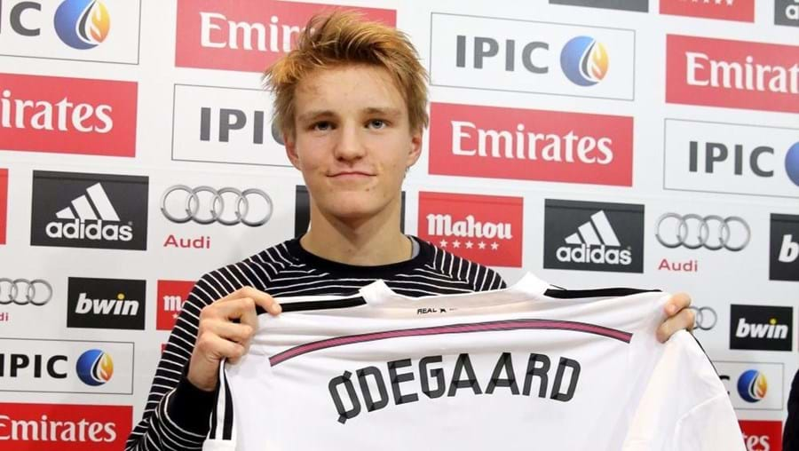 Martin Odegaard tem 16 anos