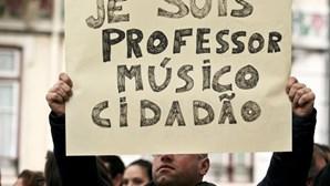 Concerto de protesto em frente o Ministério