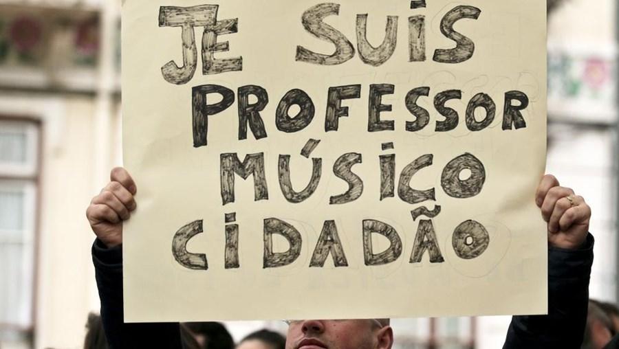 Professores e alunos de todo o país estão concentrados em Lisboa