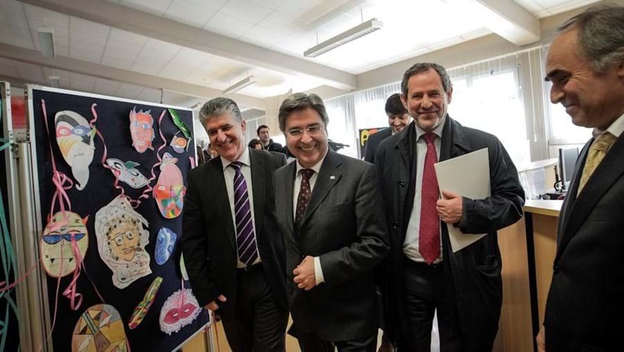 José Alberto Duarte (dir.) decide concurso em que Eduardo Fernandes (2.º à dir.) foi candidato