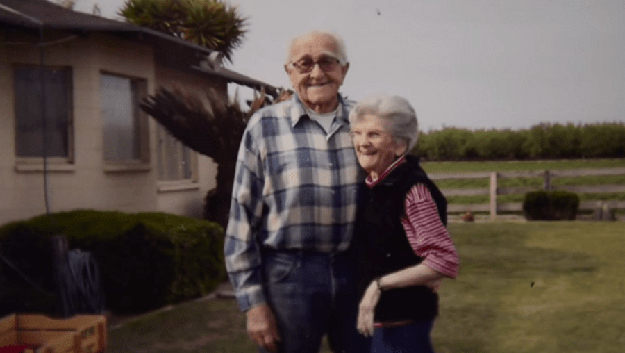 Floyd e Violet Hartwig estavam casados há 67 anos