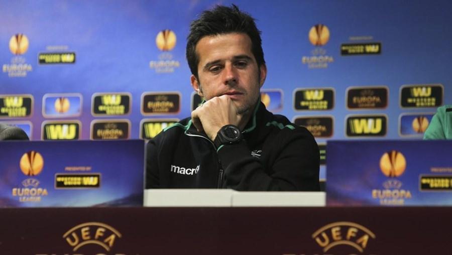 O treinador do Sporting Marco Silva