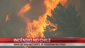 Incêndio intenso no Chile