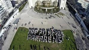 Protesto contra privatização da TAP fez-se por escrito