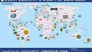 Veja o mapa das cervejas mais populares