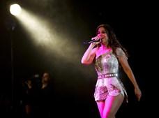 A artista brasileira no palco
