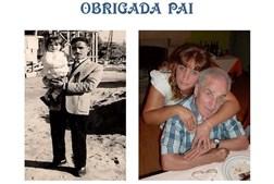 A Inês Varela, de 48 anos, fez uma montagem especial para o pai, Joaquim Pinheiro, 80 anos