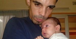 """""""Pai sou pequenino mas já te amo como gente grande. Feliz Dia do Pai"""", escreveu Sónia Santos"""
