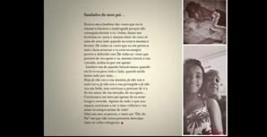 Cláudia Oliveira, de Arganil, em Coimbra, com seu pai Nelson Oliveira, de 42 anos, que vive em Espanha