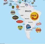 A Skol é a cerveja preferida no Brasil, no Chile é a Cristal