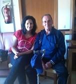 Mais uma fotografia enviada pela leitora do CM Carina Mendes, 31 anos, com o pai Avelino Mendes, 72 anos