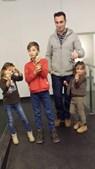 'Obrigado por serem pais para todos os momentos!' enviou a leitora do CM Vânia Silva e os filhos, da Suíça, para o marido Rui Coelho