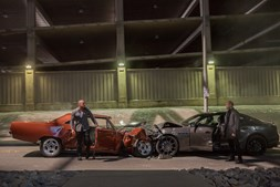 Dominic (Vin Diesel) e Deckard (Jason Statham) enfrentam-se várias vezes durante o filme