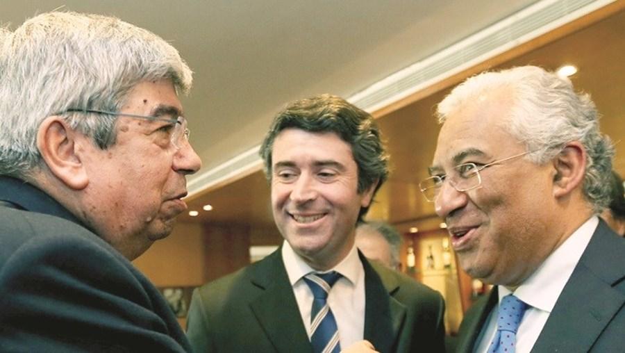 Ferro Rodrigues, José Luís Carneiro e António Costa, em Gaia
