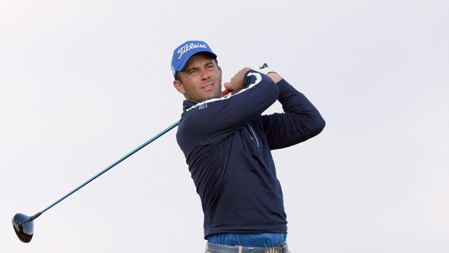 O golfista português Ricardo Santos