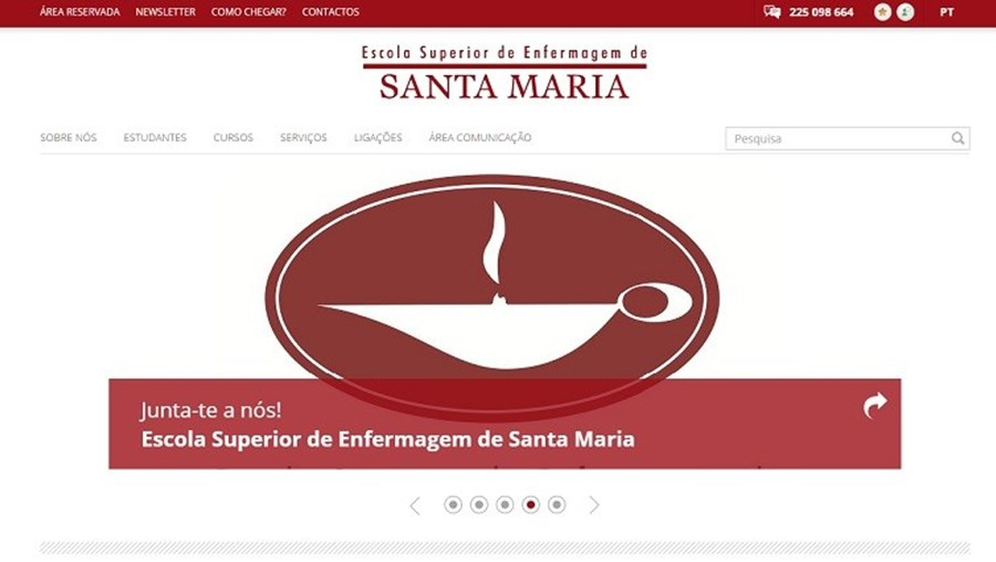 A situação do site Escola Superior de Enfermagem de Santa Maria já está normalizada