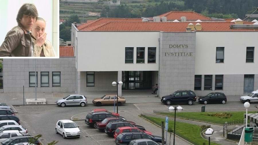 Tribunal de Santa Maria da Feira julga casal. Raul Duarte (foto pequena) foi alvejado, mas responde por posse de arma