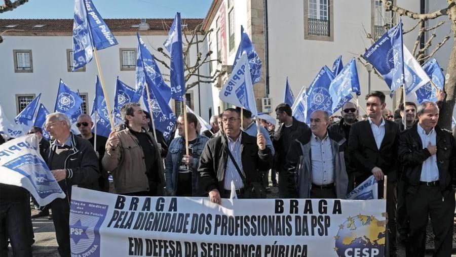 Manifestação reuniu 50 agentes da PSP
