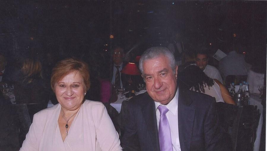 Fernando Correia com a mulher, Vera