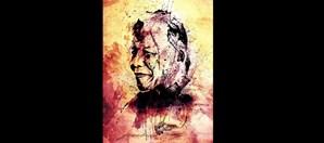 Imagem de Mandela, 'o mais importante líder da África Negra', descreve o artista