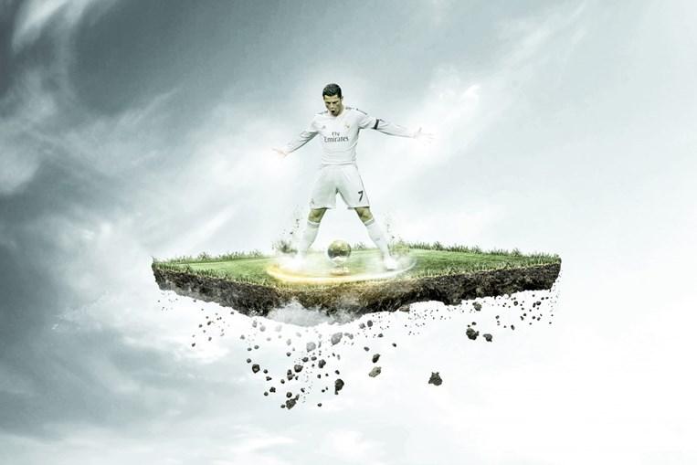 José Paulo Reis tem diversos trabalhos a partir da imagem de Cristiano Ronaldo, que considera 'um dos maiores futebolistas de sempre'