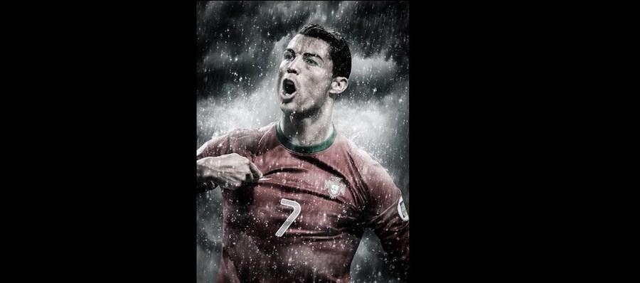 Cristiano Ronaldo, o atleta com mais destaque no trabalho do artista
