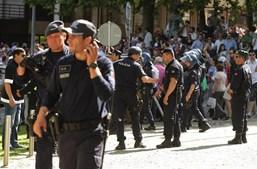 Adeptos do Guimarães envolveram-se em confrontos com a polícia