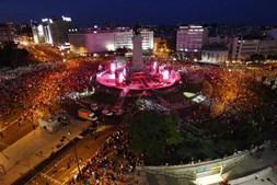 Vista aérea da Praça do Marquês de Pombal