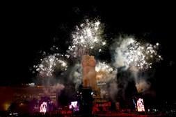 Fogo de artifício no Marquês de Pombal