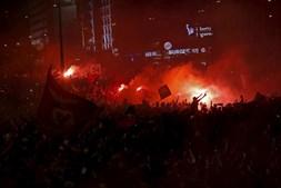 Adeptos fazem a festa em Lisboa