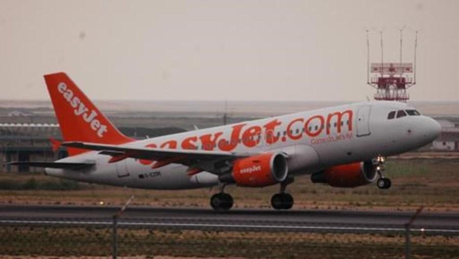 Um avião da companhia aérea easyJet