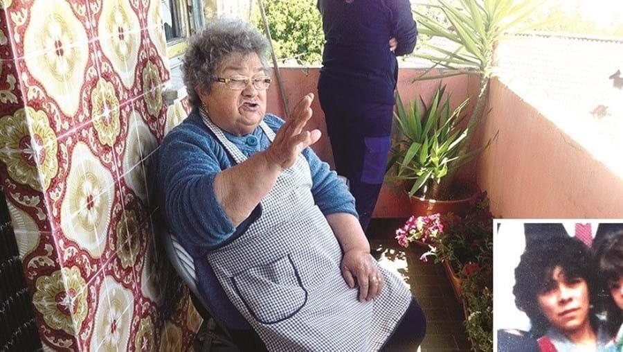 Maria Esteves estava inconsolável com a morte da filha Isabel (foto pequena), de 51 anos