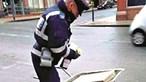 Carrinho de mão multado