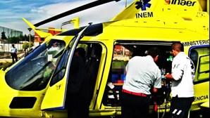 Helicóptero do INEM avaria com doente a bordo
