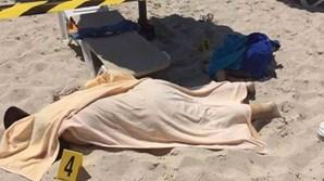 Uma das vítimas foi tapada com toalhas de praia