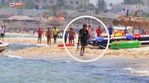 As primeiras imagens do atirador foram divulgadas pelo canal de televisão britânico SkyNews