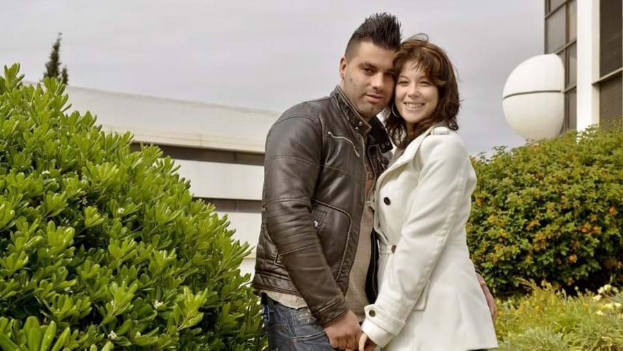 Cátia Palhinha e o namorado Márcio