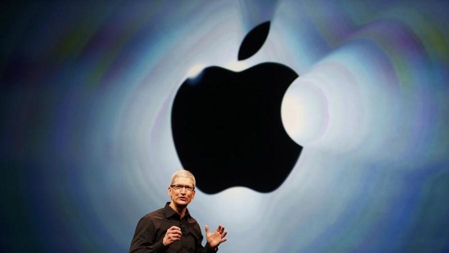Tim Cook, CEO da Apple, numa conferência da marca da maçã