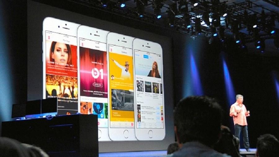 A apresentação do Apple Music durante o WWDC 2015