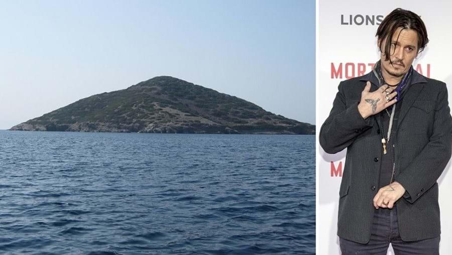 O ator Johnny Depp pagou 4,2  milhões pela ilha de Stroggilo, no mar Egeu