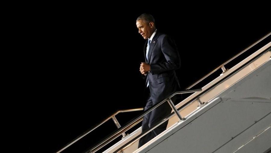 Presidente dos EUA na chegada a Nairobi