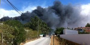 Incêndio começou em zona de mato e estendeu-se até junto às casas