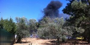 Dezenas de operacionais dos bombeiros combateram o fogo