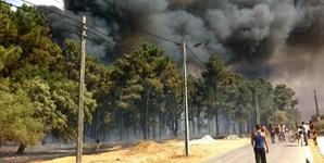 População ficou muito alarmada com as proporções do incêndio