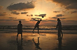As praias são local de férias para a maioria da população
