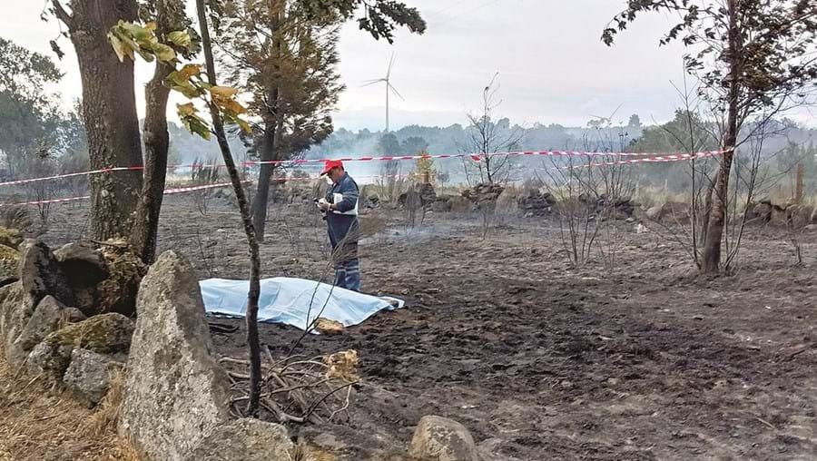 Hélder Marques não conseguiu fugir à violência das chamas