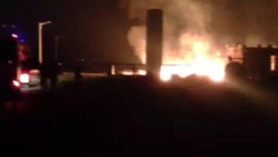 Na semana passada, uma outra fábrica explodiu em Tianjin