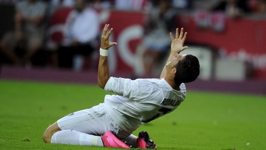 O desespero de Ronaldo durante a partida
