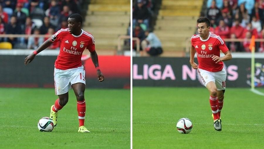 O extremo holandês Ola John (à esquerda) foi contratado pelo Benfica em 2012. Gaitán (à direita) foi convocado para os jogos da Argentina frente a Bolívia  e México