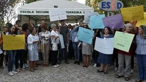 Protesto na escola secundária Ferreira Dias, em Sintra